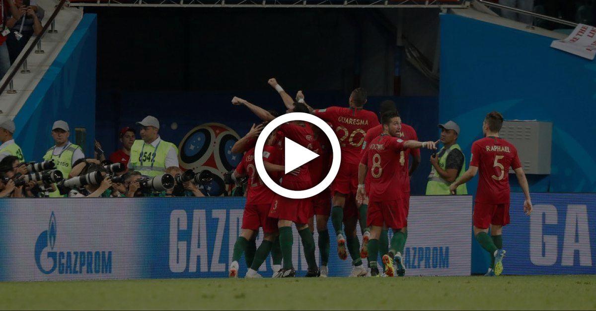 Torjubel von Portugal, lässt bei Zuschauern Zweifel über Regelwerk aufkommen