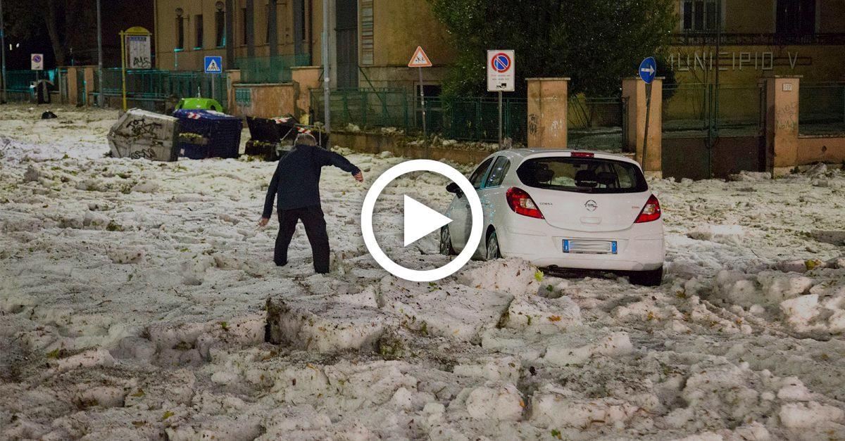 Heftiges Unwetter: Eisbrocken und Hagelstürme richten riesiges Chaos in Rom an