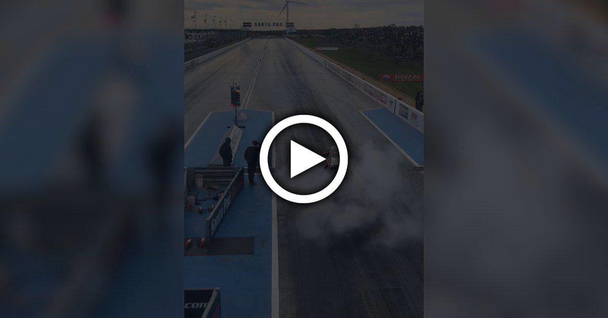 So sieht es aus, wenn ein Motorrad in 5 Sekunden auf über 400 Km/h beschleunigt