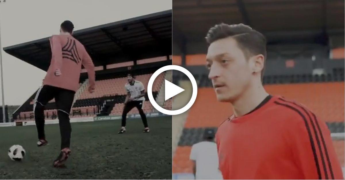 Mesut Özil tritt zur Assist-Challenge an: Mit krassen Tricks vernascht er den Gegner
