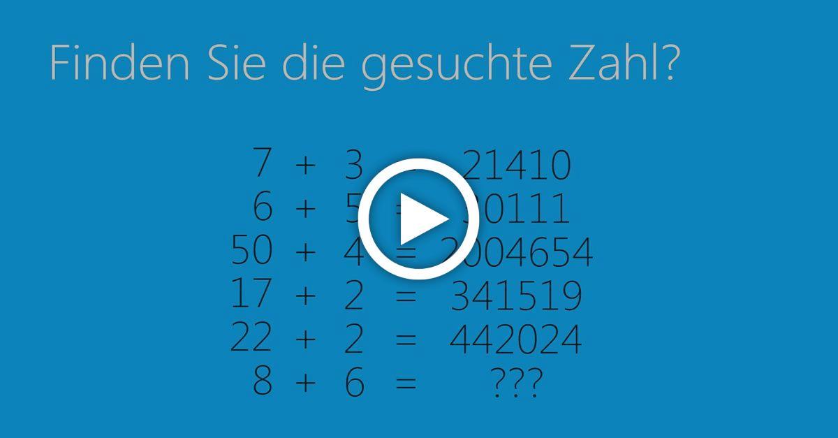 Tausende scheitern an diesem Rätsel - Bist du schlauer?