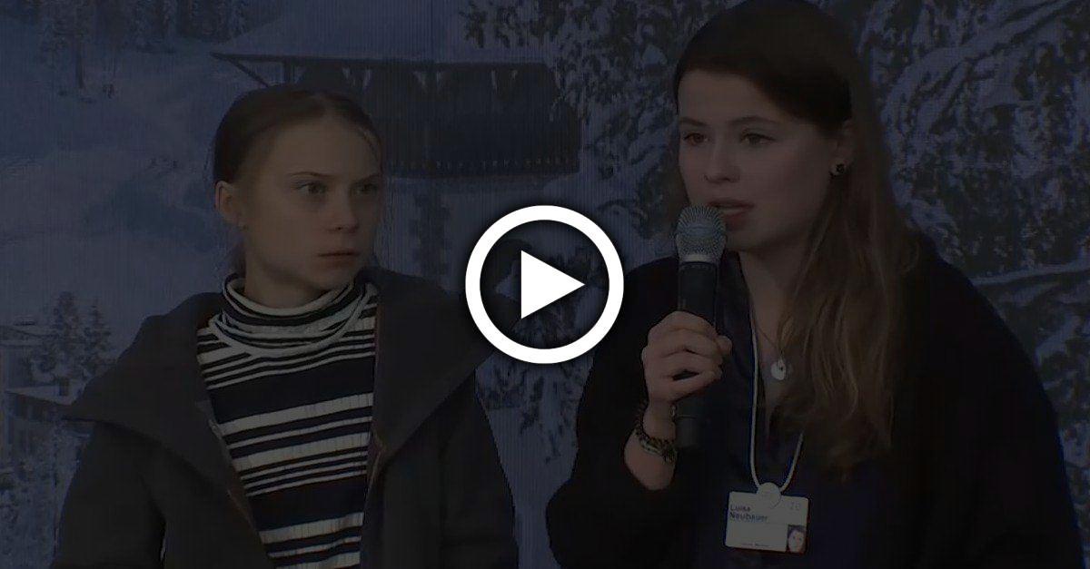 Während Luisa Neubauer ihr Klima-Ultimatum stellt, schüttelt Greta heftig mit dem Kopf